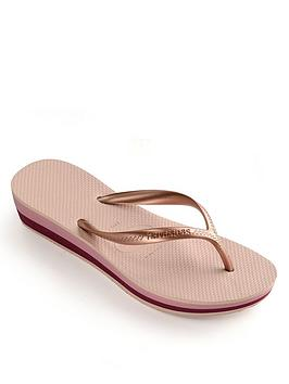 Havaianas Havaianas High Light Wedge Flip Flop - Rose Gold Picture