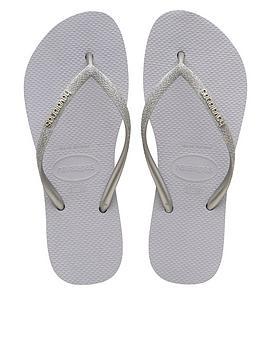 Havaianas Havaianas Slim Flatform Glitter Wedge Flip Flop - Grey Picture