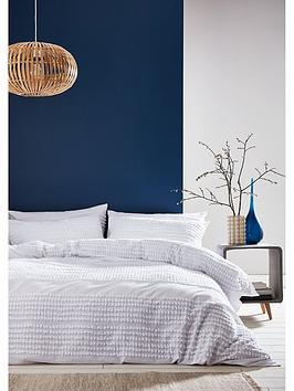 catherine-lansfield-bianca-malmo-tufted-cotton-duvet-cover-set