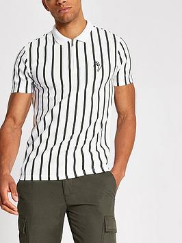 river-island-maison-riviera-white-stripe-slim-polo-shirt