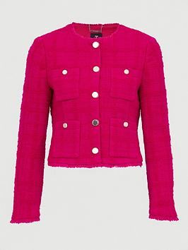 Ted Baker Ted Baker Wool Jacket With Patch Pockets - Pink Picture