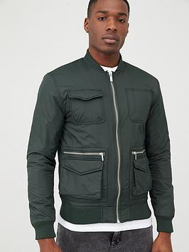 river-island-utility-bomber-jacket-khaki
