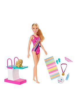 Barbie Barbie Swim'N Dive Doll And Accessories Picture