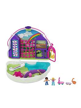 Polly Pocket Polly Pocket Polly &Amp; Shani Rainbow Cloud Playground Picture