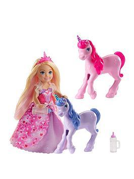 Barbie Barbie Dreamtopia Chelsea Princess Doll And Baby Unicorns Picture
