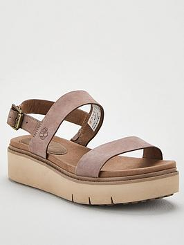 Timberland Timberland Safari Dawn 2 Band Chunky Low Flatform Wedge Sandal  ... Picture