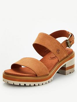 Timberland Timberland Violet Marsh 2 Band Chunky Heeled Sandal - Rust Picture