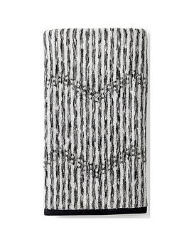 DKNY Dkny Dot Chevron 100% Cotton Terry Bath Towel Picture