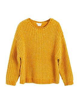 Mango Mango Girls Chenile Knitted Jumper - Mustard Picture