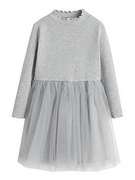 Mango Mango Girls Tulle Skirt Jersey Dresses - Grey Picture