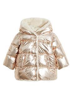 mango-baby-girls-faux-fur-lined-metallic-coat-copper