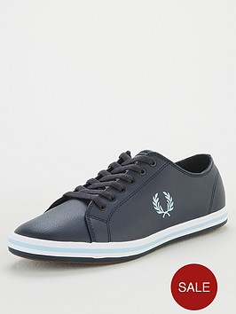 fred-perry-kingston-leather-trainers-navy