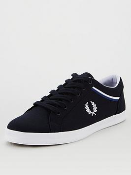 fred-perry-baseline-canvas-trainers-navy