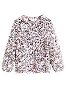 Mango Mango Girls Multicoloured Knitted Jumper - Off White Picture