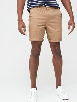 River Island River Island Vienna Skinny Fit Chino Shorts - Tan Picture