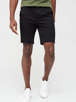River Island River Island Sid Skinny Shorts - Black Picture
