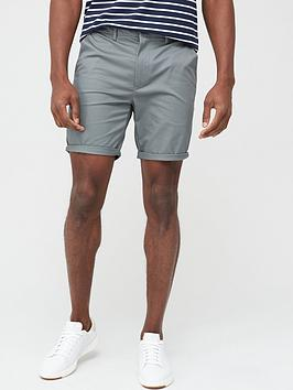 River Island River Island Vienna Skinny Fit Chino Shorts - Green Picture