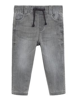 Mango   Baby Boys Denim Jog Jeans - Grey
