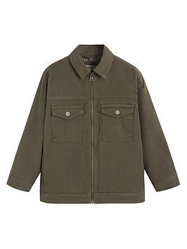 Mango Mango Boys Zipped Quilted Jacket - Khaki Picture