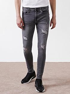 river-island-blue-ollie-spray-on-distressed-skinny-jeans