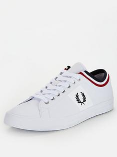 fred-perry-underspin-tipped-cuff-leather-trainers-white