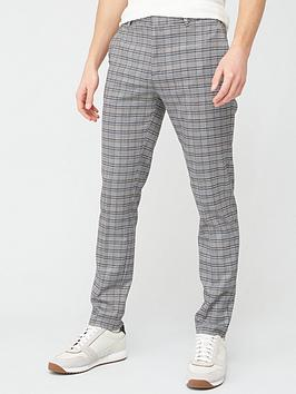 River Island River Island Check Super Skinny Trousers - Grey Picture