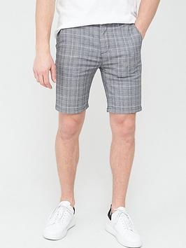 River Island River Island Check Skinny Short - Grey Picture