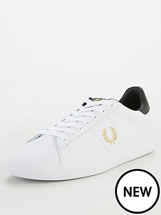 fred-perry-spencer-leather-trainers-white