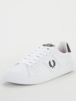 Fred Perry Fred Perry B721 Leather Trainers - White Picture