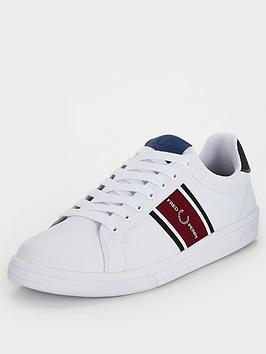 fred-perry-b721-leather-webbing-trainers-white