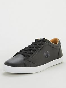 fred-perry-baseline-leather-trainers-black