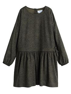 mango-girls-flowey-animal-print-dress-khaki