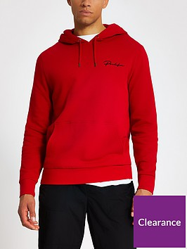 river-island-prolific-embroidered-logo-hoodie-red