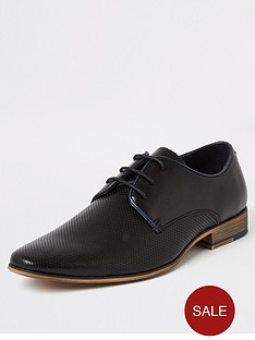 river-island-black-textured-lace-up-derby-shoes