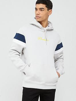 River Island River Island Prolific Colour Blocked Hoodie - Grey Picture