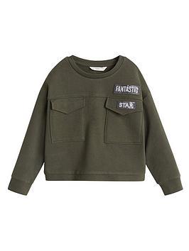 Mango Mango Girls Sequin Pocket Sweatshirt - Khaki Picture