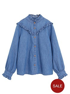 mango-girls-ruffle-denim-shirt-medium-blue