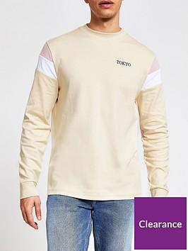 river-island-long-sleeve-colour-blocked-t-shirt-ecru