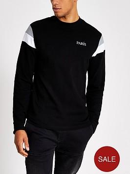river-island-long-sleeve-colour-blocked-t-shirt-black
