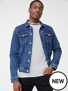 river-island-dark-blue-classic-fit-denim-jacket