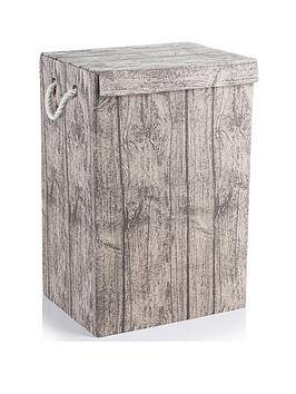 Minky Minky Laundry Hamper With Bark Print Picture