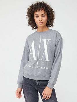 Armani Exchange Armani Exchange Logo Sweat Top - Grey Picture