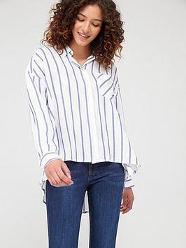 Armani Exchange   Striped Shirt - Blue