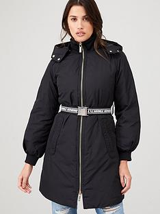 armani-exchange-caban-coat-with-belt-black