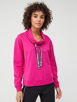 Armani Exchange   Funnel Neck Sweatshirt - Pink