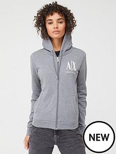 armani-exchange-zip-through-hoodie-grey
