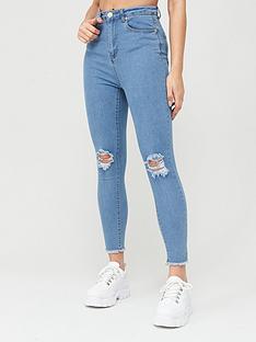 boohoo-boohoo-frayed-hem-distressed-skinny-jeans-light-blue