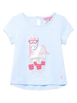 Joules Joules Toddler Girls Maggie Sea Horse T-Shirt - Blue Picture