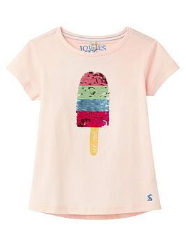 Joules Joules Girls Astra Ice Lolly T-Shirt - Pink Picture