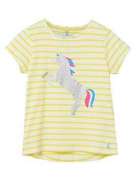 Joules Joules Girls Pixie Unicorn T-Shirt - Yellow Picture